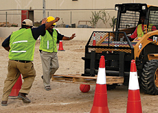 Machinery operators test their mettle.