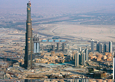 The Burj Dubai is now the tallest tower in the world. According to Kim