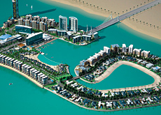 The bridge will link mainland Bahrain and the reclaimed Reef Island, which is a mixed-use development off the coast of Manama.