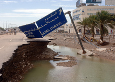 Cyclone Gonu caused extensive damage to Oman's infrastructure when it hit the country in June. (Getty Images)