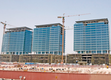 Ongoing work at Downtown Jebel Ali: Taisei Corporation has won the contract for the towers. (Dmitry Dolzhanskiy/ITP Images)