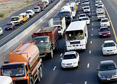 Construction of the Dubai Bypass road will add a further six lanes each way to the network.