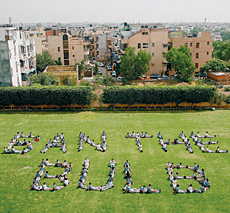 Campaigners in India joined a Greenpeace protest to ban usage of the incandescent bulb.