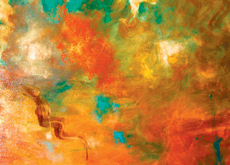 Artist Kay Black says her abstract pieces are influenced by the colours of Dubai.
