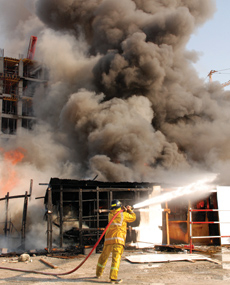 The construction phase is one of the most dangerous times in a building's history in terms of a fire occurring.