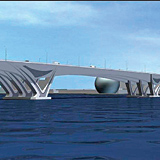 The 10-lane concrete box girder bridge will link Abu Dhabi with Saadiyat Island, which is positioned 500m off the coast of the UAE capital.