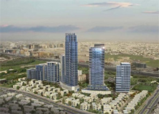 An artist's impression of Acacia Avenues in Dubai.