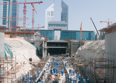 Self-compacting concrete enabled Arabtec to reduce the number of applications needed.