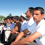 A group of ASGC workers attend the event at Al Mamzar. The contractor awarded ?best performers? and those who had been with the firm 10 years.