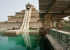 The Ziggurat is the centrepiece of the waterpark.