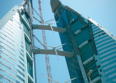 Energy generated by the trade centre's turbines will be double of the original estimate. (Christopher Sell/ITP Images)