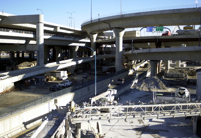Ramps leading to and from the I-93 south section of Boston?s 'Big Dig' (John Mottern/Getty Images).