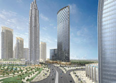 LOOK AT ME: The Burj Dubai will be highlighted from a European-style grand boulevard.