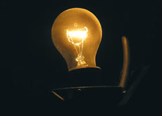 Incandescent bulbs are the first generation lighting.