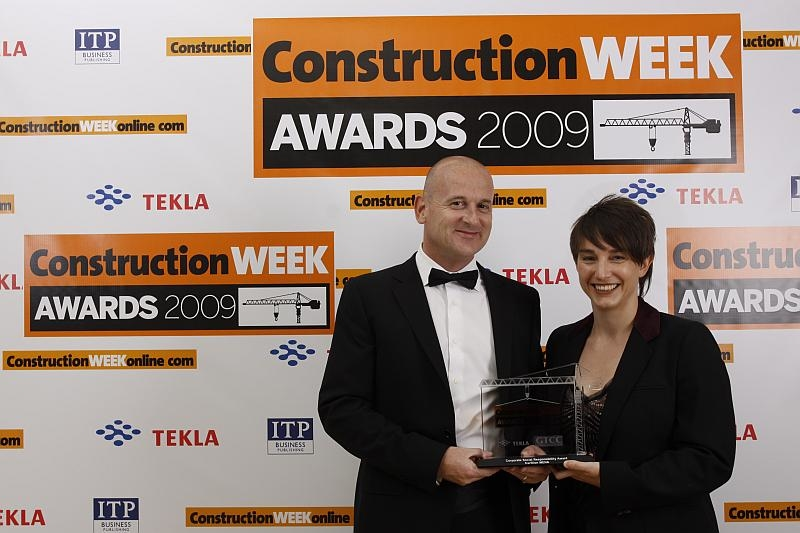 Ben Legg and Kathryn Mayes from Carillion Mena picked up the award