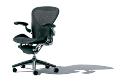 The Aeron chair from Herman Miller