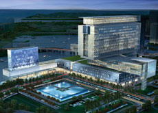 Artist's impression of The Cleveland Clinic Abu Dhabi.