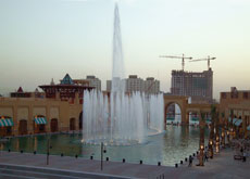 Super-size fountains such as the one in Al Kout mall in Kuwait are growing in popularity