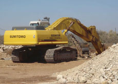 Excavators have been very busy moving 600 swimming pools of sand for a project.