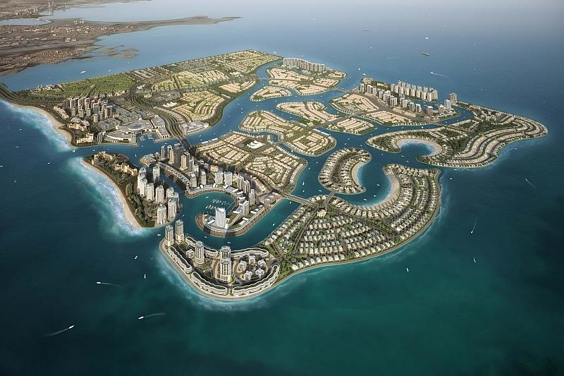 Diyar Al Muharraq is designed to include around 12km? of reclaimed islands in the north of Bahrain.