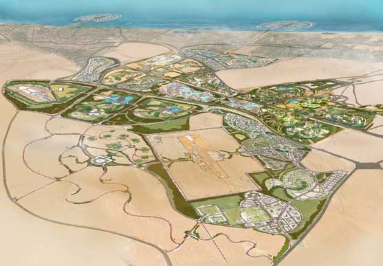 Proposed footprint for the Dubailand project.