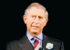 HRH The Prince of Wales appeared in holographic form.