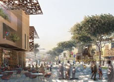 The masterplan comprises a series of clustered communities with private courtyards