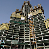 Meva claims to have the biggest share of on-site concrete works on the Burj Dubai, with the floor slabs covering the equivalent of 33 football fields.