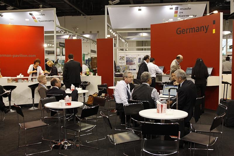 Around 5,300 square metres of space has been taken up by German companies