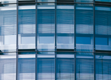 Transparent glass often requires drawing blinds for large parts of the day.