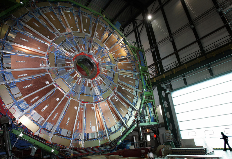 A view of the world's largest superconducting solenoid magnet, part of the Large Hadron Collider (FABRICE COFFRINI/AFP/Getty Images).