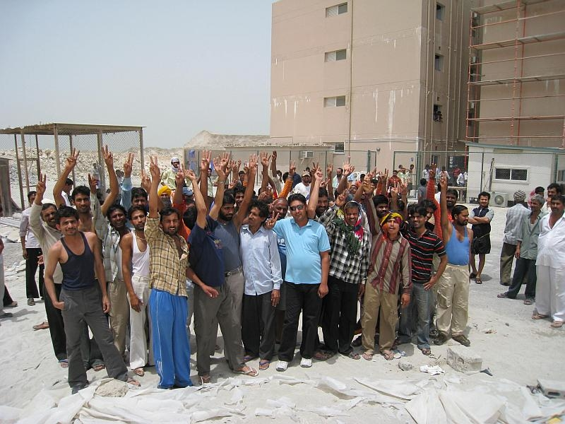 Workers for Al Hamad have been promised their wages for tomorrow