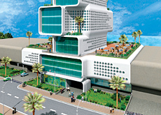 Synergy melds a futuristic form with a traditional architectural concept.