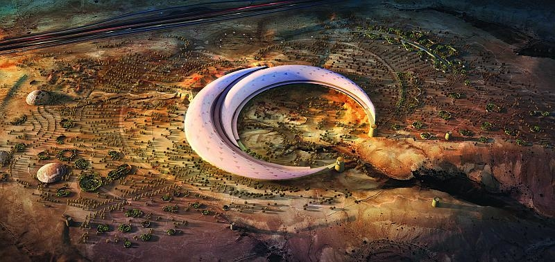 The giant botanical garden was commissioned by the City of Riyadh as a gift to King Abdullah of Saudi Arabia