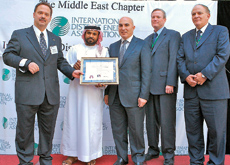 UAE Military Works Directorate was honoured by IDEA for its commitment to district cooling.