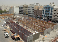 Work on the temporary Naif Souq is well underway and should be completed by mid-June