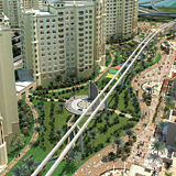 Nakheel?s redesigned masterplan shows the development of a park, which replaces the original canal idea.