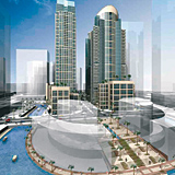 P&T Architects is designing four towers for the First Abu Dhabi-Shams project.