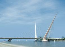 The unique form of the PJA Bridge.