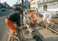 Work has begun on the metropolitan railway.