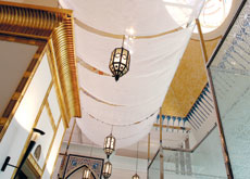abrics from Atmosphere and Lelievre Middle East were used to create structure in a place where structural changes were not permitted.