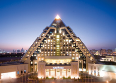 The Raffles hotel in Dubai is to have a tropical landscaped garden located 14 metres off the ground.