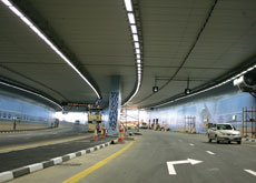 Dubai's Airport Tunnel that runs under the one of the main runways of Dubai Airport is among the longest tunnels in the GCC. (Getty Images)