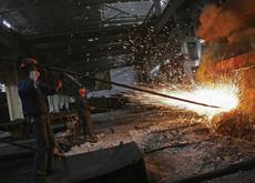 Steel surges