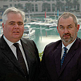 Systech managing director, Stephen Rayment (left), with Gordan Moffatt (right), who is now heading up the firm?s Middle East and Africa operations.