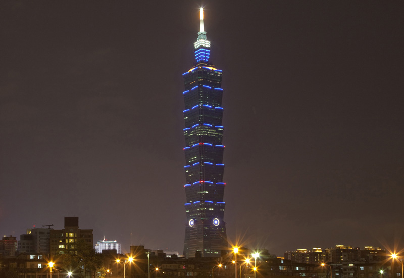 The Taipei 101 tower in Taiwan, was the world's tallest building, before the Burj Khalifa. (Marc Gerritsen/Getty Images).