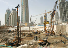 JOBBING: Dutco Balfour Beatty is working on piling and shoring in Dubai Sports City and the Palms Deira and Jumeirah.