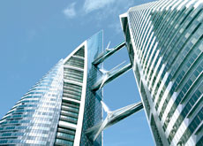 Bahrain World Trade Center (BWTC) a symbol of the nation's interest in sustainability.