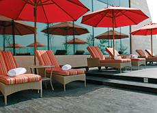 Rohmix International's teak decking was selected for the Raffles Hotel in Dubai