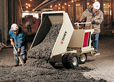 Tipping point: the Terex PB 16 power buggy in action.